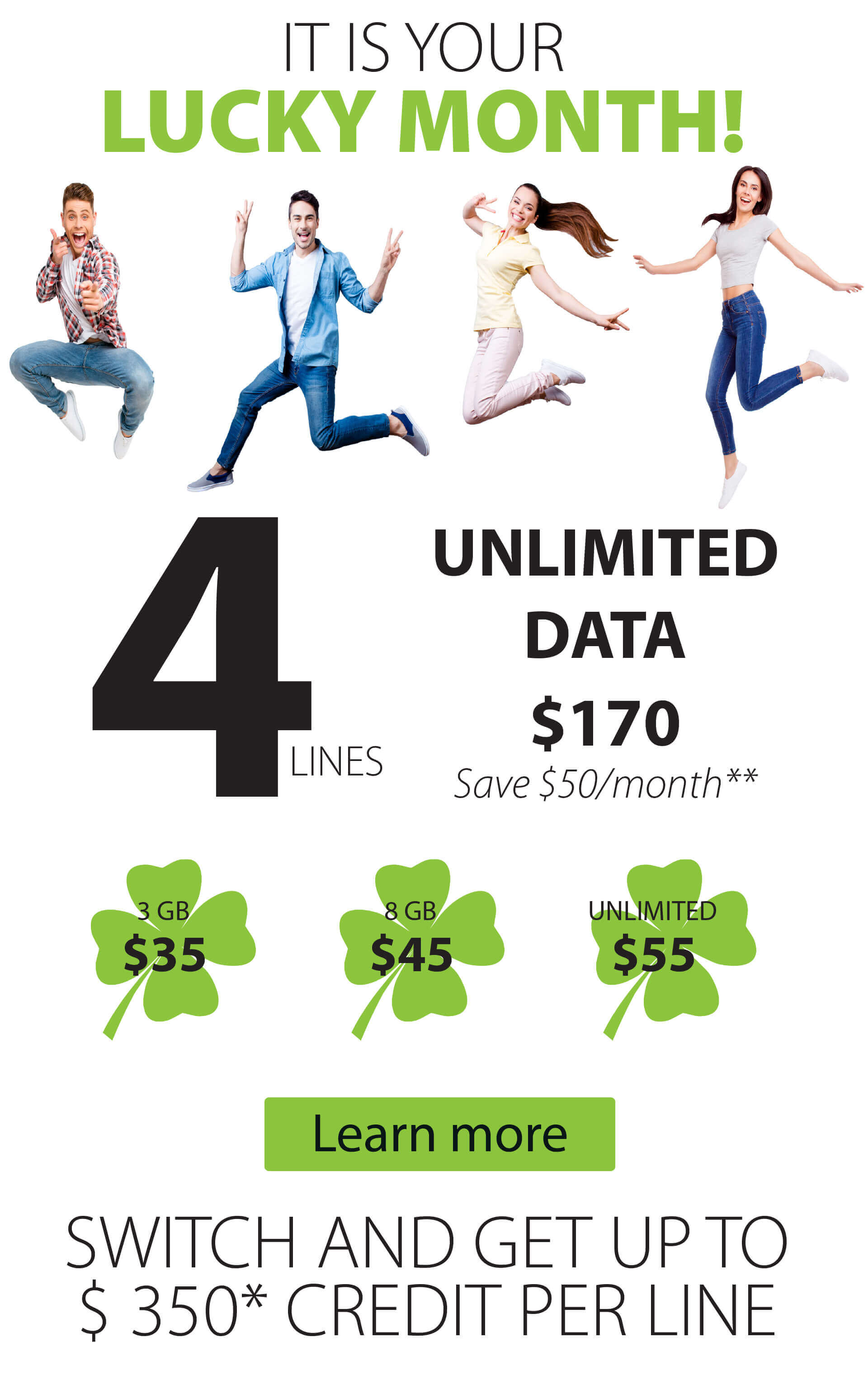 People happy about unlimited data plan